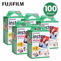 100 Простыни Детские Fujifilm Instax Mini 8 пленка для Fuji 7 s 9 70 25 50 s 90 Моментальное фото Камера белый Плёнки поделиться SP-1 SP-2
