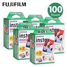 100 Fogli Fujifilm Instax Mini 8 film per Fuji 7 s 9 70 25 50 s 90 Instant Photo Camera Bianca FilmShare SP SP 2