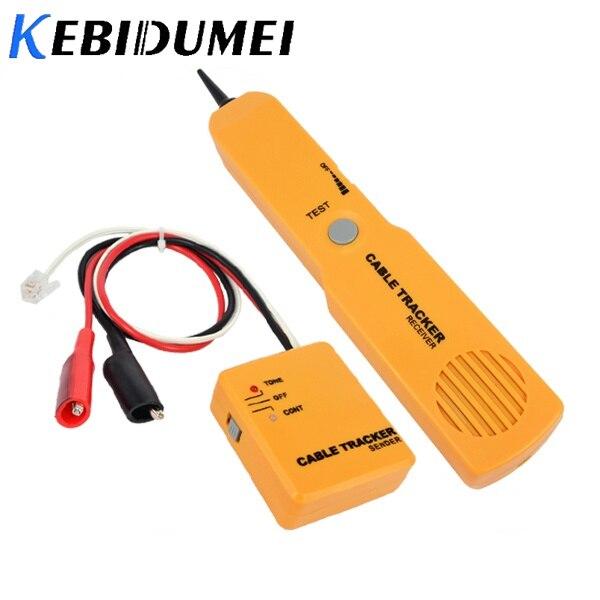 Kebidumei RJ11 רשת טלפון טלפון כבל בוחן טונר חוט Tracker Tracer לאבחן טון קו Finder גלאי רשת כלי
