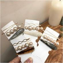 1 Set Design Korea Japan Metal Gold Pearl Irregular Geometry Hair Clip For Women Girl Wedding Party Accessories Jewelry