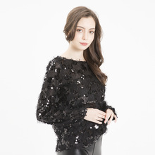 glitter gold sequin fringe Tassels Long Sleeve sweater winter clothes women harajuku streetwear sparkly sweaters free shiping