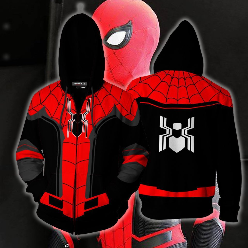 Halloween Carnival Adult Spider Man Far From Home Peter Parker Cosplay Costume Spiderman SuperHero Hoodies weatshirt jacket coat