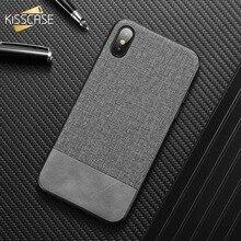 KISSCASE Classic Cloth Phone case for Xiaomi Redmi Note 7 6 pro Case Splice mi 9 8 A2 lite A1 Pocophone F1