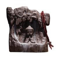 Buddha Ceramic Backflow Incense Burner Ganesha Smoke Waterfall Stick Incense Holder Creative Home Decor Decorative Buddha Censer