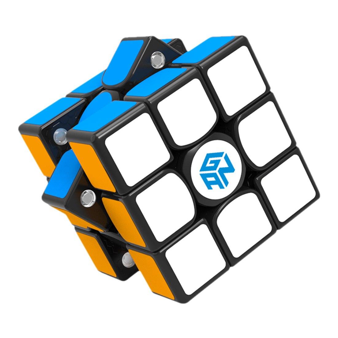 GAN356 X 3x3 Cube magique magnétique amovible Cube carré Puzzle jouet pour l'entraînement cérébral-réglage du nombre IPG + autocollant noir