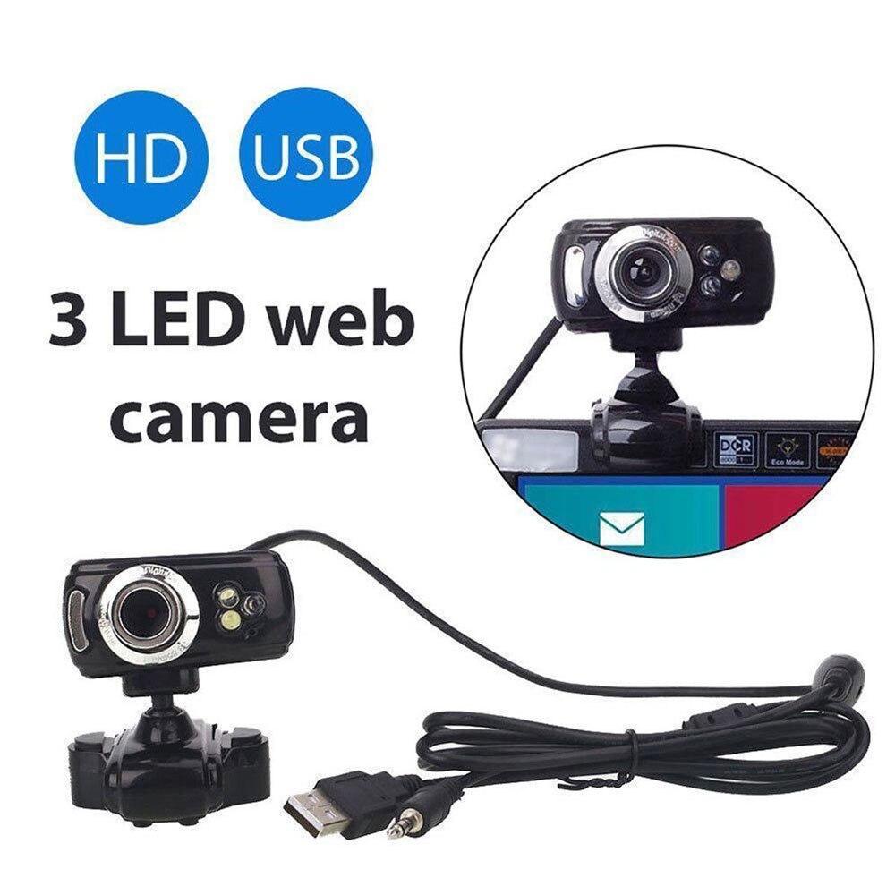 HD Webcam BEESCLOVER 50 Megapixel Web Cam com Mic Webcam com Microfone HD Web Camera para PC Computador Portátil Desktop