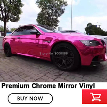 chrome Pink Vinyl Wrap chrome vinyl film decal sticker sheet roll pink car wrap Factory price High-end Fabric and glue