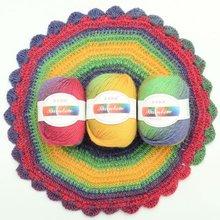 50g/balls yarn spinning Duan dyed rainbow wool thread Color gradient crocheted shawl hat scarf knitting jewelry QW086