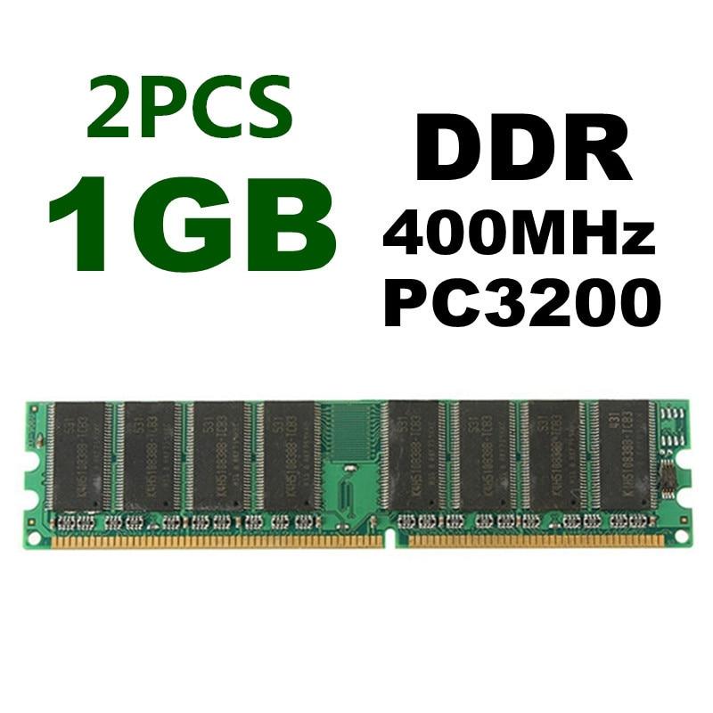 1GB DDR400 400MHz PC3200 184 Pin Non-ECC DIMM Low Density Desktop PC  Memory RAM