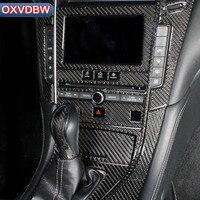 인피니티 q50 q60 액세서리 탄소 섬유 센터 콘솔 기어 패널 도어 인테리어 아울렛 스티커 장식용 차체