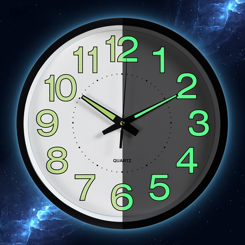 Timelike Luminous Wall Clocks New Circular Quartz Clocks Home Decor Bedroom Decor Glowing In The Dark