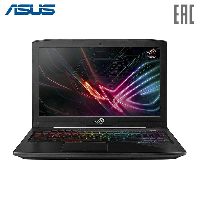 "Ноутбук ASUS ROG GL503GE Intel i5 8300H/8Gb/1Tb+256Gb SSD/NO ODD/15.6"" FHD/NVIDIA GeForce GTX 1050Ti 4Gb/Camera/Wi-Fi/No OS/Polycarbonate Black (90NR0081-M05450)"