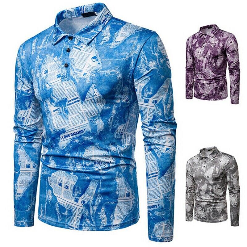 Men's Clothing Hirigin Brand Men Shirt Mens Shirt New Fashion Men Social Print Business Tuxedo Long Sleeve Casual Dress Shirts Plus Size Shirts