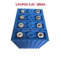 4 шт./лот 3,2 V LiFePO4 200Ah непрерывного 2C 400A разряда для детей возрастом от 12 V для хранения солнечной энергии Батарея пакет