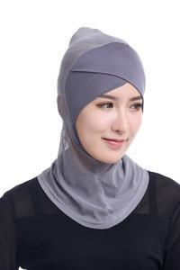 Image 2 - ใหม่ล่าสุด CHIC LADY Modal Hijab ฤดูร้อนผู้ใหญ่ผ้าพันคอ Hijabs อิสลามหมวก Bonnet นินจาคอมุสลิม Underscarf