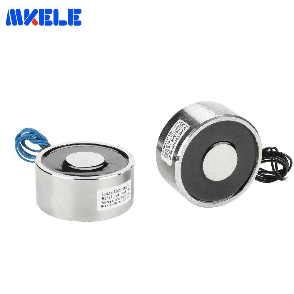 Excellent Quality MKP65/30 Holding Electric Magnet Lifting 80KG/800N Solenoid Sucker Electromagnet DC 6V 12V 24V Free Shipping