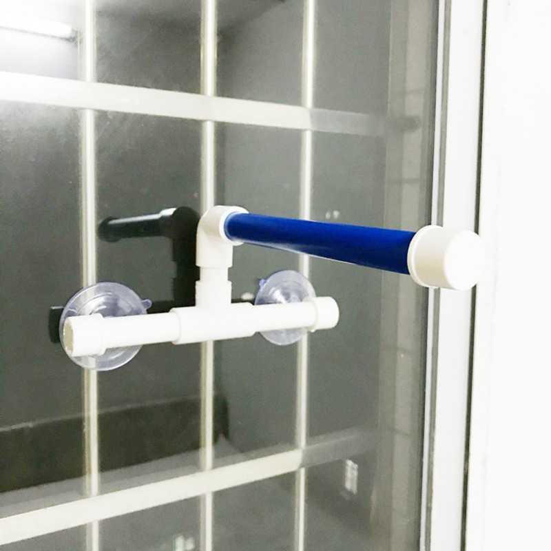 Papağan duş raf standı istasyonu sopa Parrot banyo malzemeleri Pet papağan oyuncak çapraz katlanır banyo duş ayakta Platform kuş