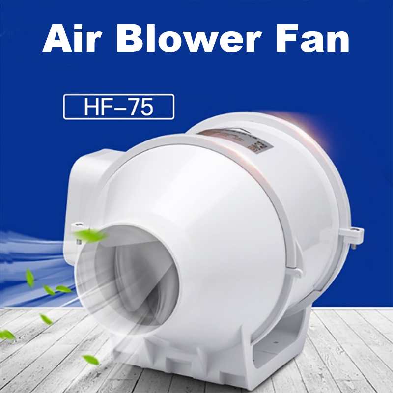 3 inch Booster Inline Ducted Fan Wentilation Fan ABS Vent Fans Pipe Extractor Ventilator Wall Fans For Bathroom Kitchen 220V 35W