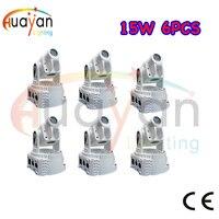 Fast Delivery 6PCS/Pack Mini 15W Moving Head Light,DMX512 Stage Light,RGB Wash Lights