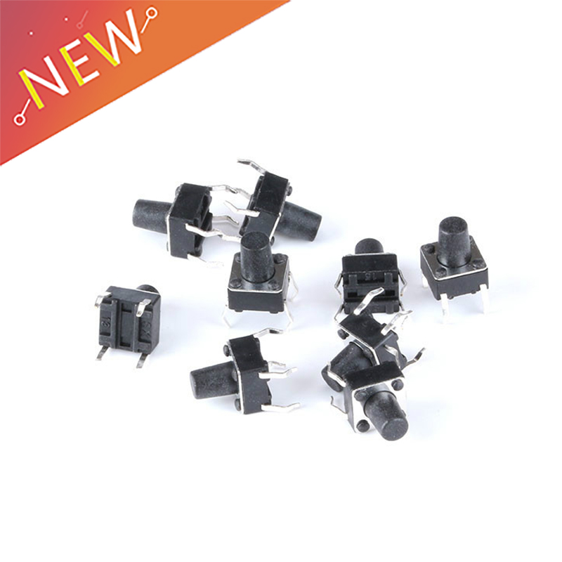 10Pcs Micro Switch Tact Switch Sw 4.5X4.5X3.8MM Push Button New Ic lw