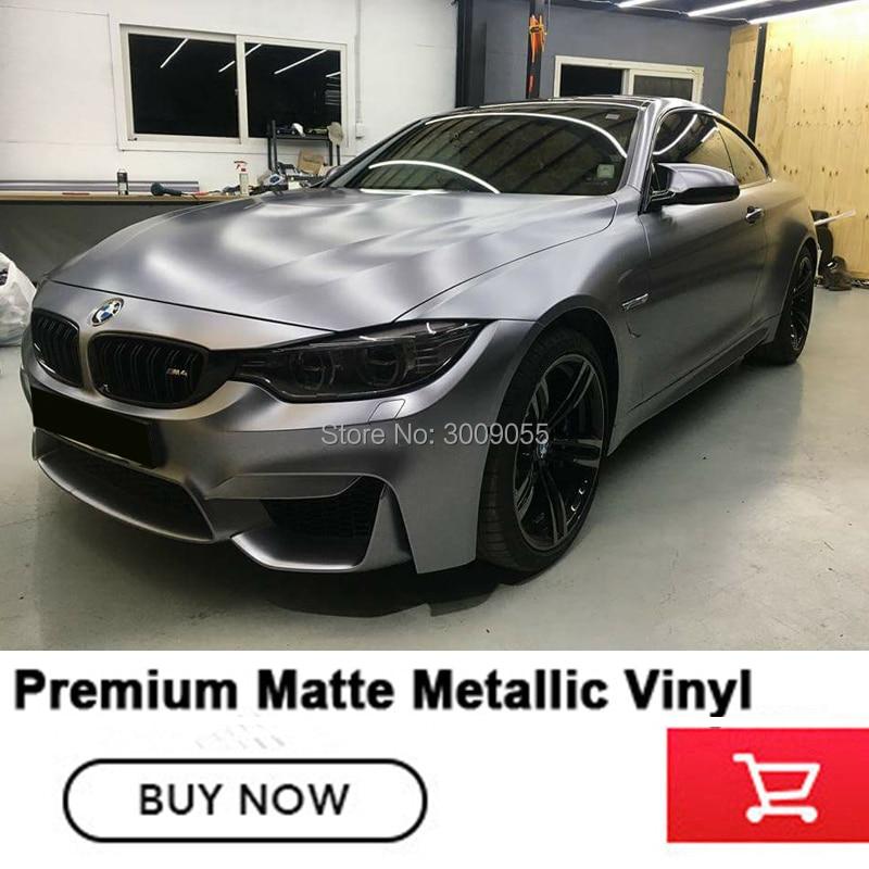 Charcoal Grey matte Metallic wrapping film grey matte metallic vinyl wrap Auto Wrap Vinyls High end
