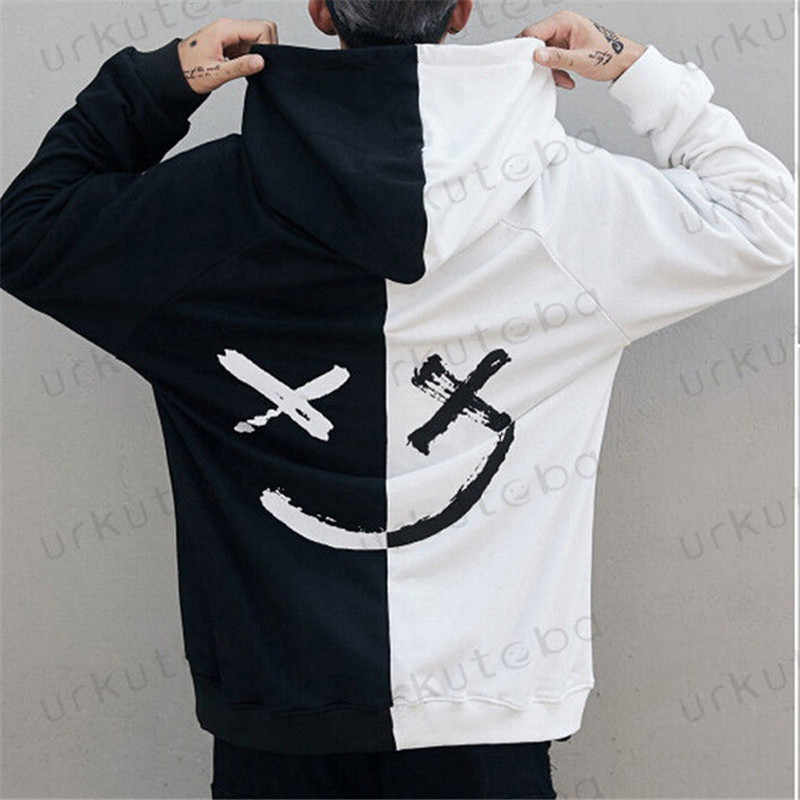 3cd8a07ec5790 Dropshipping Suppliers Men Hoodies Sweatshirts Smile Print Headwear Hoodie  Hip Hop Streetwear Clothing Us size Plus