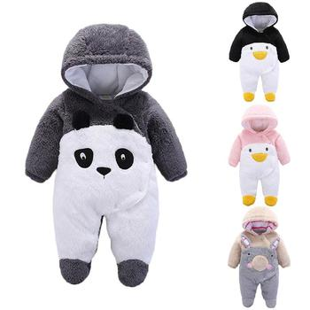 2018 Infant Romper Baby Boys Girls Jumpsuit New Born Bebe Clothing Hooded Toddler Baby Clothes Cute Panda Romper Baby Costumes