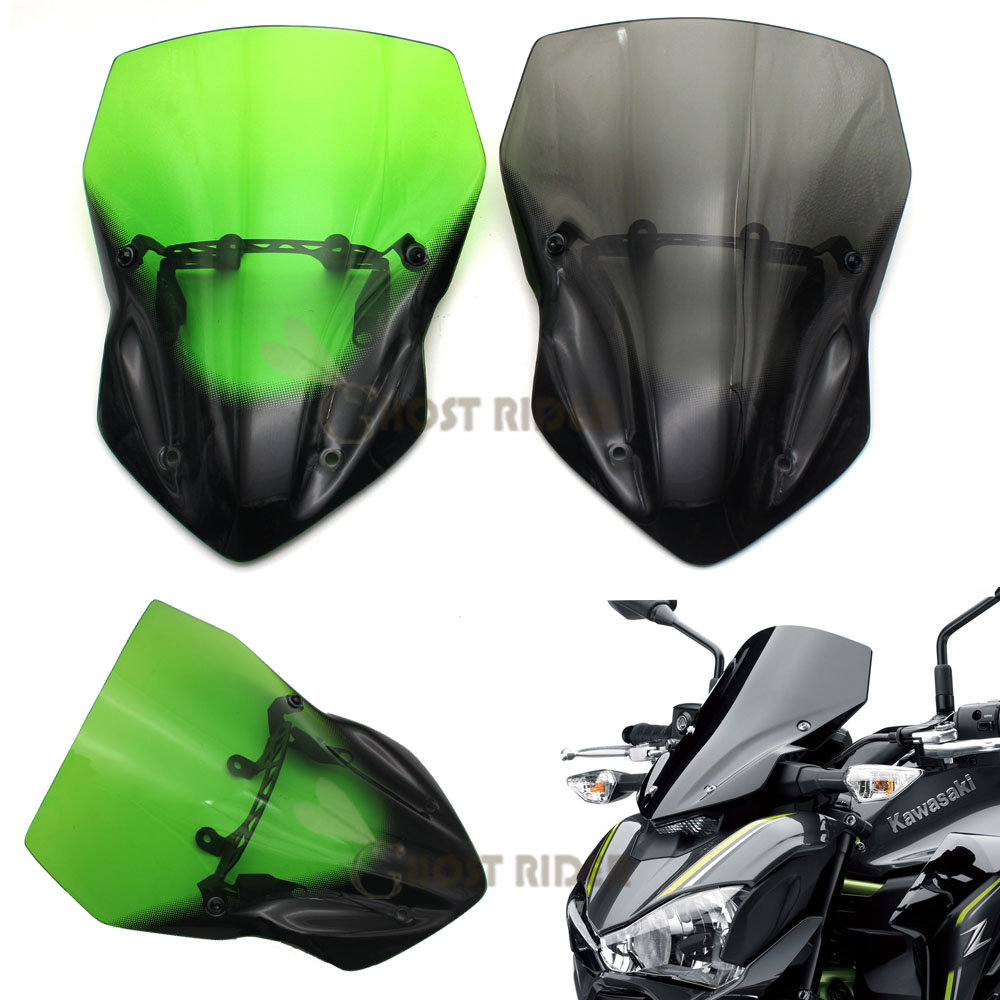 For Kawasaki Z900 Z 900 2017 Motorcycle Accessories Windshield Windscreen Pare brise