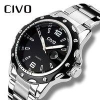 CIVO Relogio Masculino мужские часы Роскошные известный бренд Мужская мода Повседневное платье часы Военная Униформа кварцевые наручные часы Saat