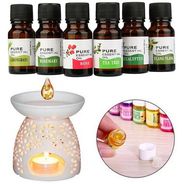 10 ml aire fresco cuentagotas fragancia Aroma humidificador de aceite esencial de aromaterapia flores frutas aliviar el estrés TSLM2