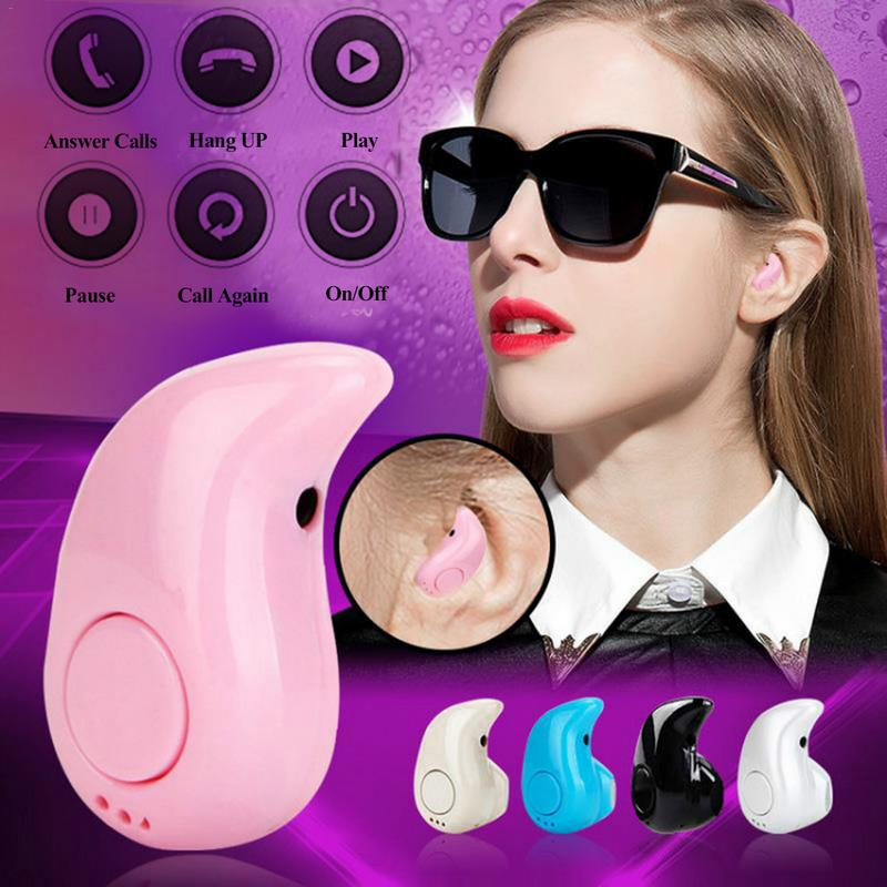 High Quality Sport S530 In-Ear Headset Music Earphone Earbud Mini Wireless Bluetooth4.0 Stereo Black White Pink Blue Skin Color