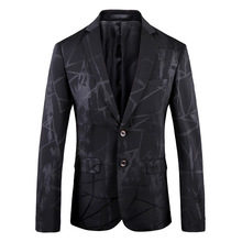 Luogen Blazer Homme Men Paisley Floral Wedding Suit Jacket Slim Fit Stylish Costumes Stage Wear For Singer Mens Blazers Casual