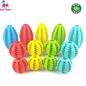 5/7/11cm Pet Dog Toys Extra-tough Rubber Jump Toy Interactive Elasticity Ball Dog Chew Toys For Dog Tooth Cleaning Treat Ball pet dogs rubber rod feed toy dog chew toy for dog tooth clean rod of extra tough rubber puppy toy biting resistance pet supplies