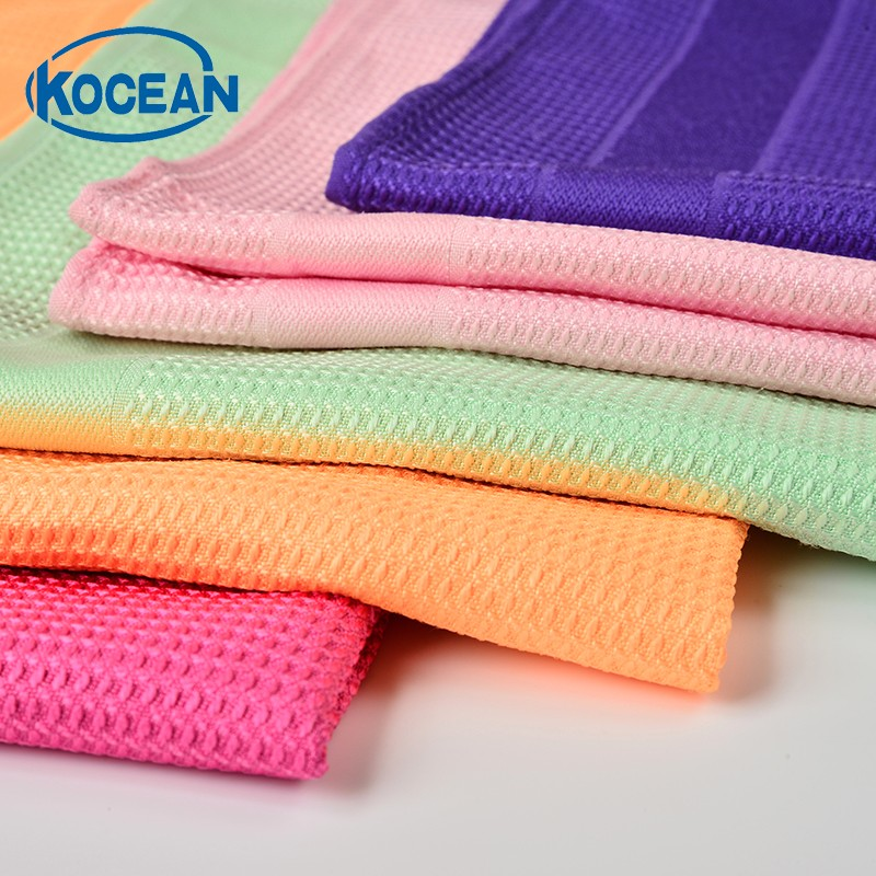 Household Cleaning Cloth Super Absorbent Microfiber Towels Kitchen Cleaning Glass Multifunction Towel(China)