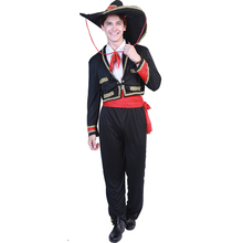 Traditional Mexican Costume Cosplay Mariachi Amigo Dancer Adult Men Festival Halloween For