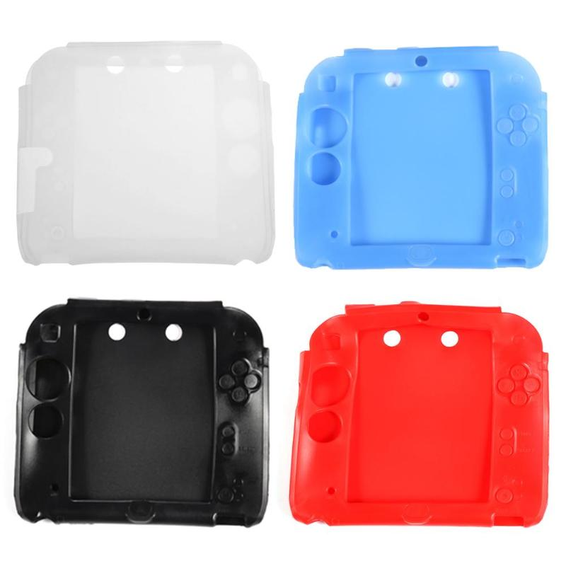 Soft Silicone Shell Housing Dustproof Protected Skin Cover Case Frame for Nintend 2DS Game Console High Quality Protected Case