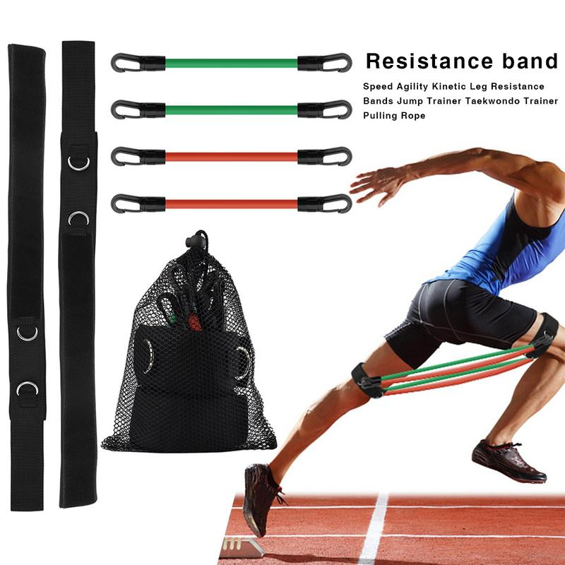 Leg Resistance Bands Taekwondo Trainer Pull Rope Running Speed Agility Train Exercise Jump Training Latex Elastic Bands Fitness