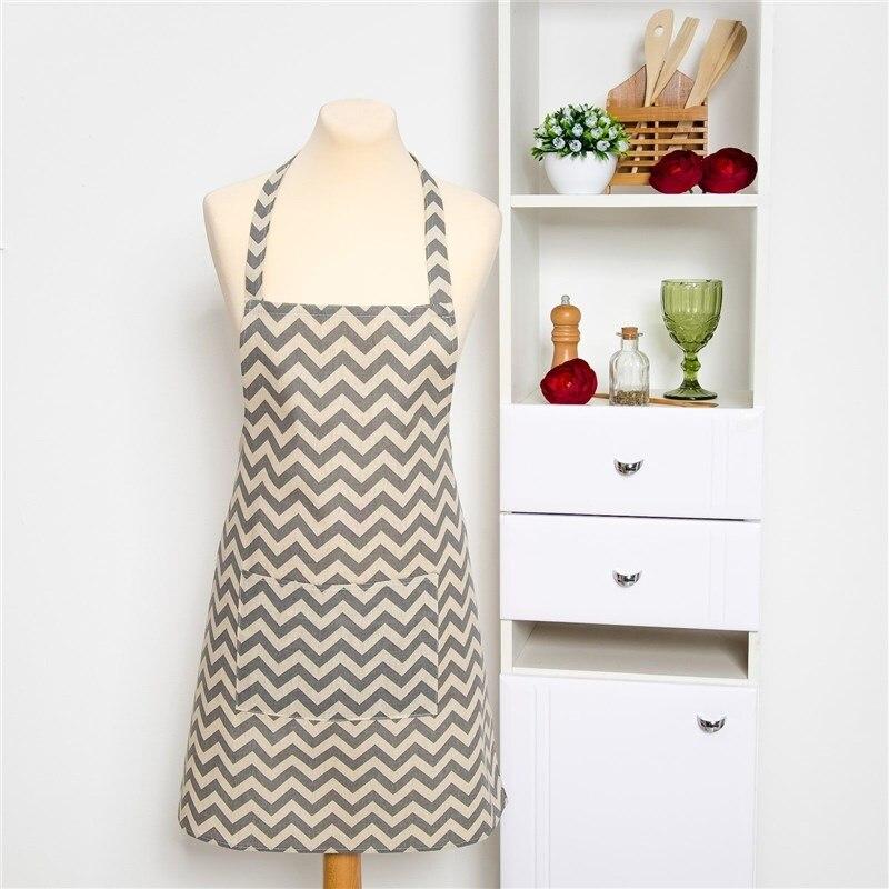 Apron Доляна 60х70см, Zig Zag Ser, 100% PE, рогожка 200 C/M 3580536 plus size zig zag pattern fringed poncho sweater