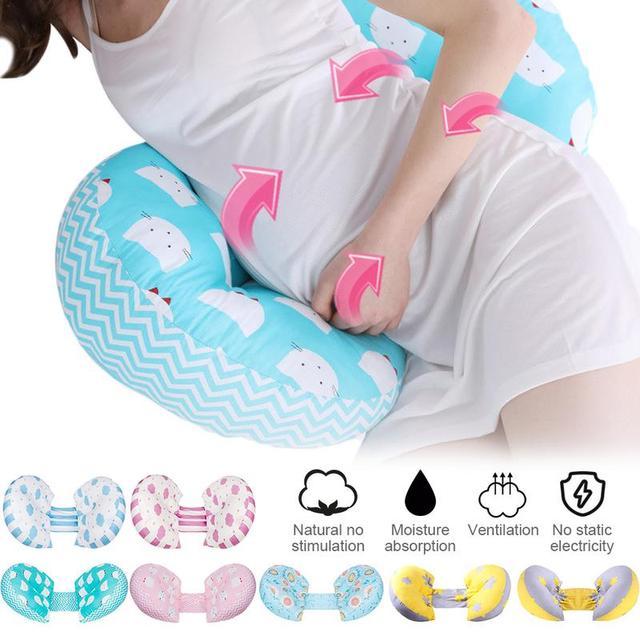 Almohadón para mujeres embarazadas científico cama ergonómica soporte vientre ajustable suave almohada multifunción ropa de cama para evitar la caída del bebé