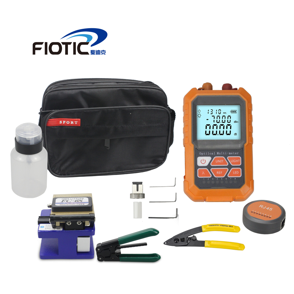 Fiber optic FTTH Tool Kit Fiber Cleaver FC6S Mini Optical Power Meter Visual Fault Locator 5MW 15MW Wire stripper miller clamp