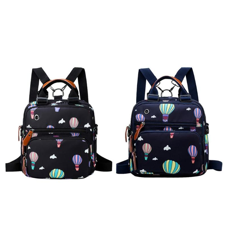 Hot Air Balloon Printed Diaper Bag Waterproof Maternity Baby Backpack Waterproof Nursing Bag Wet Bag Travel Bolsa Maternidade