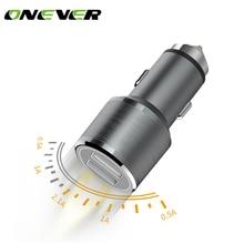 Onever QC3.0 автомобиль быстро Зарядное устройство 12 V-24 V 2 Порты Поддержка автомобиля USB Мобильный телефон быстро Зарядное устройство для Galaxy S8 Plus S7 S6