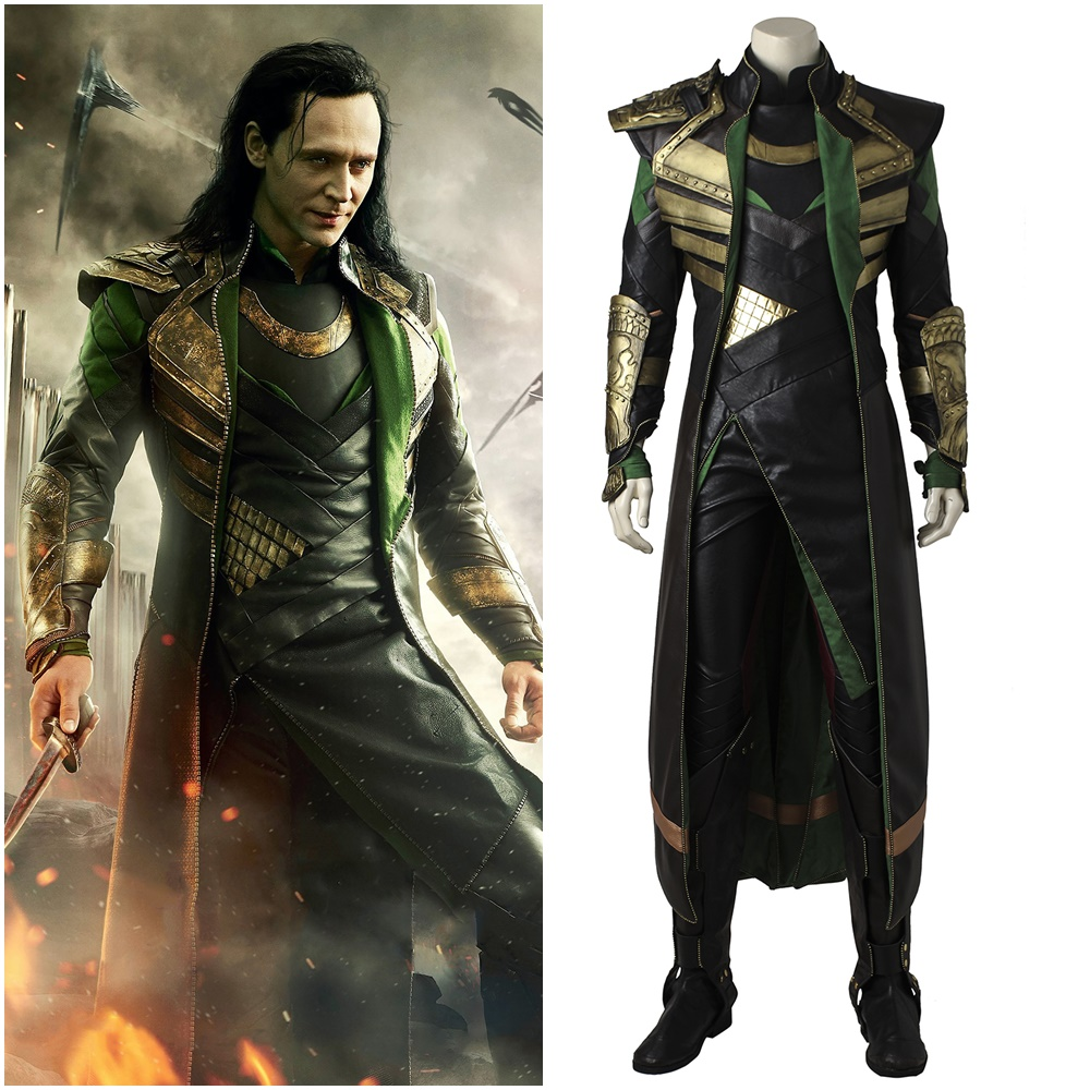 Thor The Dark World Loki Cosplay costume Carnaval Halloween uniform Custom
