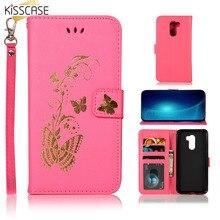 KISSCASE Cute Butterfly Case For Xiaomi Pocophone F1 A1 5X A2 Lite 5S Redmi 3S 4A 5A 6A Note 5 6 Pro Leather Flip Wallet Cases