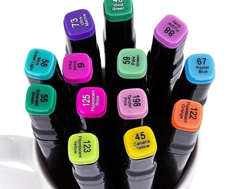 Mark pen set student hand-painted color painting oily pen comic design 36 color watercolor