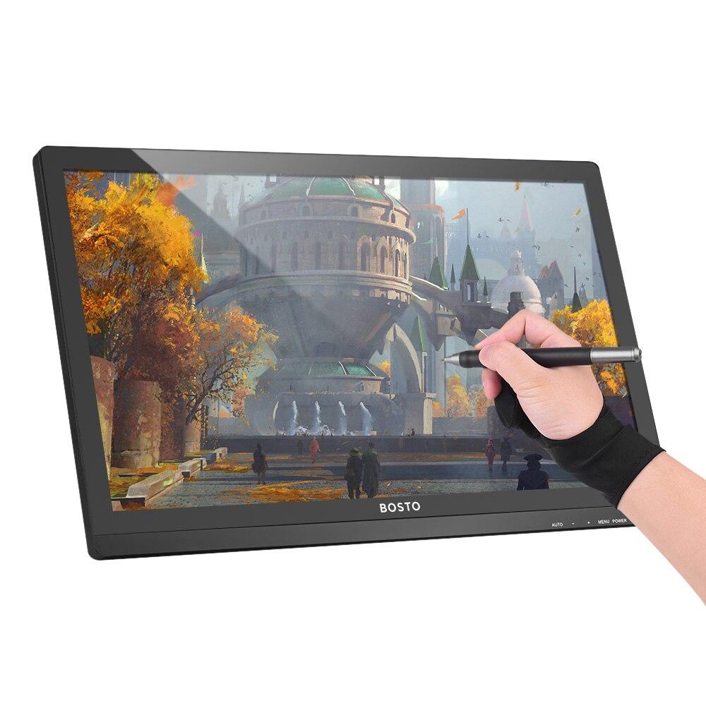 Mini moniteur interactif d'affichage de stylo de BOSTO 22U avec 21.5 pouces 1920*1080 HD écran 8192 niveau pression graphique tablette numérique