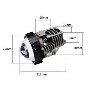 Image 5 - 40W 2,5 inch BI LED Projektor Objektiv Auto Scheinwerfer Nachrüstung Universal LED Headllamp Hohe Abblendlicht Hid Xenon Objektiv auto Zubehör