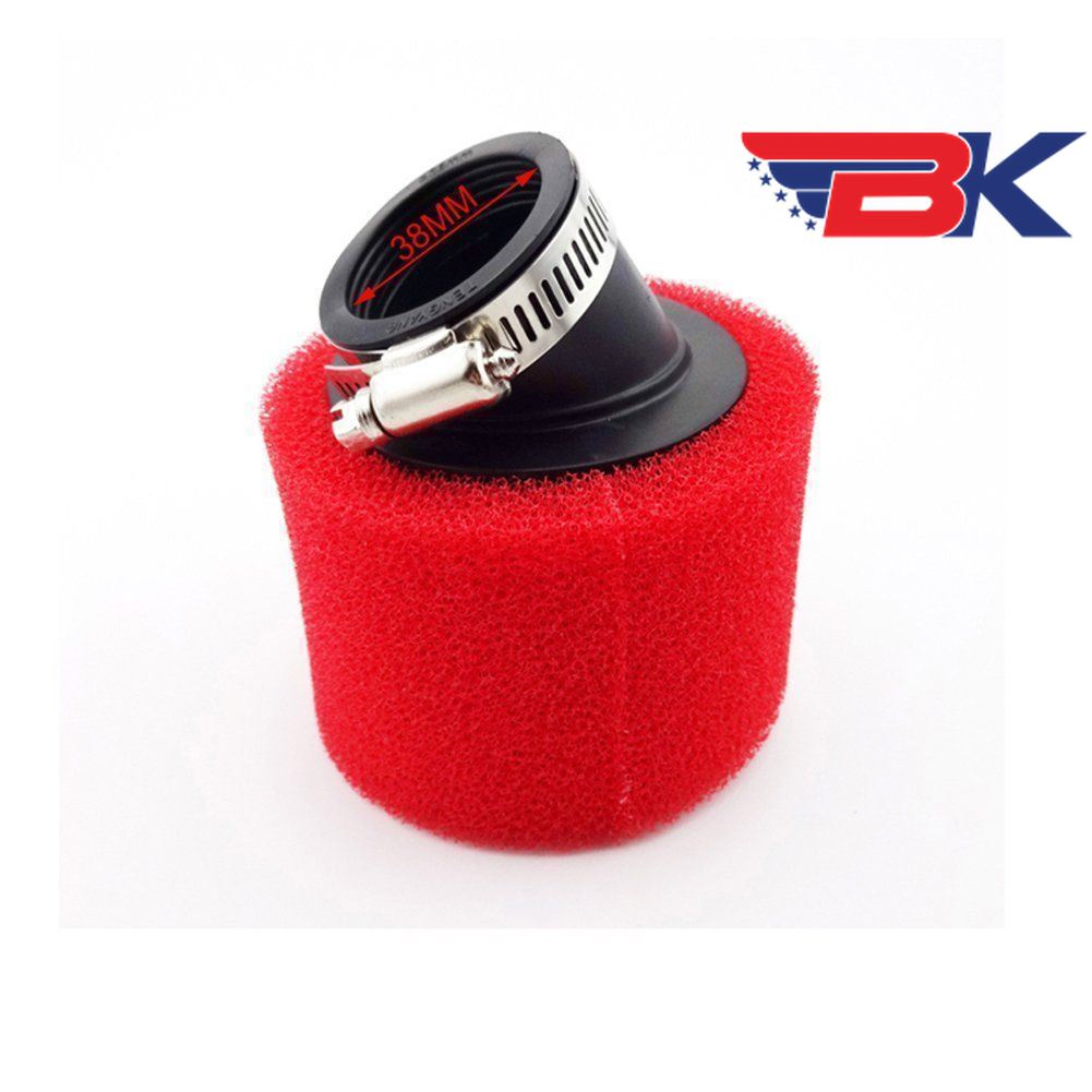 Red 38mm Bent Angled Foam Air Filter Pod 125cc Pit Quad Dirt Bike Atv Buggy Atv,rv,boat & Other Vehicle Atv Parts & Accessories