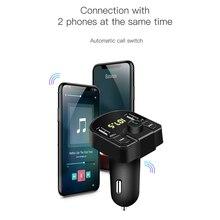 Podwójna ładowarka samochodowa USB z zestawem głośnomówiącym
