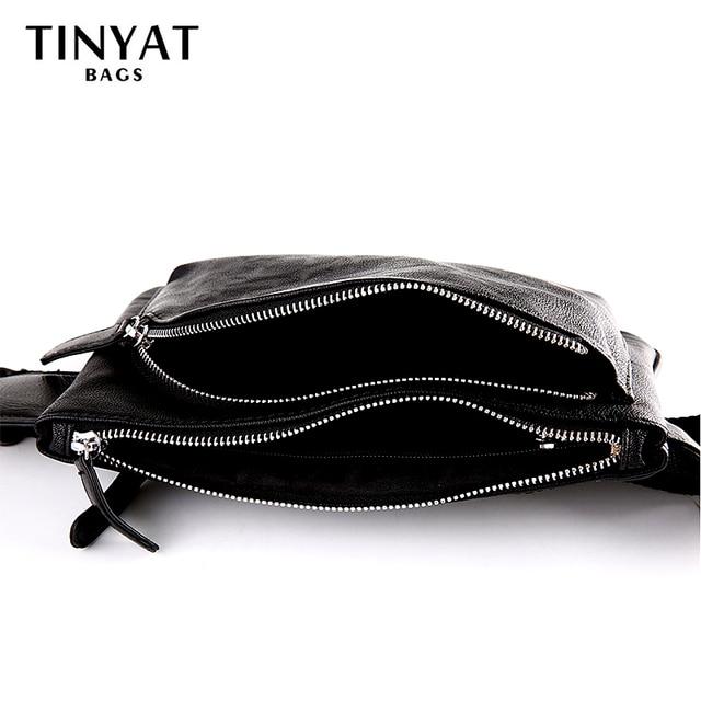 TINYAT nova unisex saco da cintura pacote Cinto PU Bag Bolsa para o Telefone e Dinheiro homem Ocasional bolsa de Ombro mulheres fanny pack multi compartimento 22